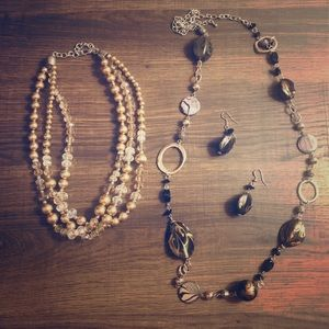 Necklace & Necklace with Earrings